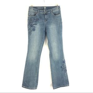 Westport W62 Signature Fit Boot Jeans Embroidered